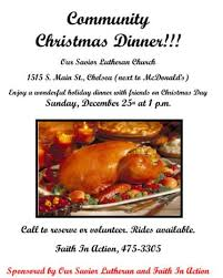 christmas dinner poster dec 25 christmas day dinner at our savior lutheran church