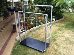 finished build a durable dual rail clothes rack from pvc pipe