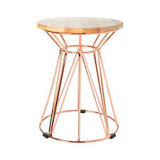 wire side table rose gold round kmart