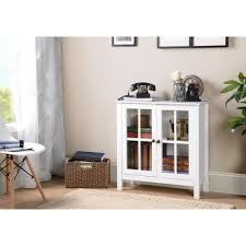 os home and office furniture os home and office white glass door accent and display cabinet 22600 the home depot
