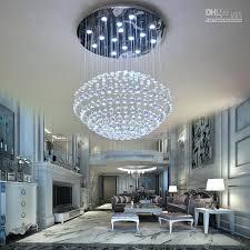 led crystal pendant light circular chandelier