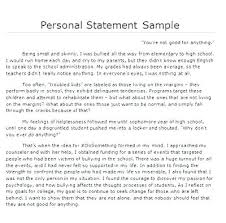 Personal Statement Template For College Examples