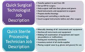 Surgical Tech Salary Differences Involving A Surgical Cst And A Sterile Processing
