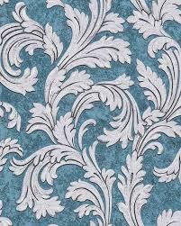 Barok Behang Edem 1032 12 Vinylbehang Glad Met Ornamenten En Metalen