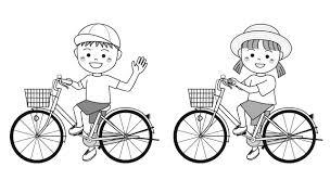 子供の夏自転車で 無料イラスト素材素材ラボ