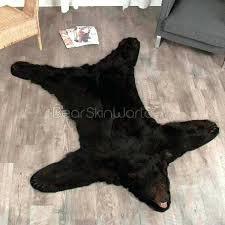 bear skin rug faux black rugs fur canada plan fallout polar