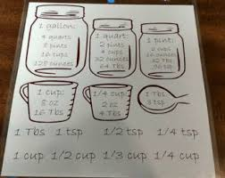 Items Similar To Large Kitchen Conversion Chart Liquid And