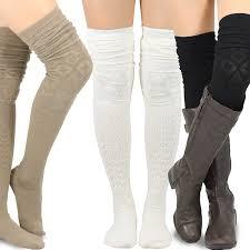 plus size thigh high socks teehee womens fashion extra long cotton thigh high socks 3 pair