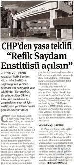 """Özgür Özel on Twitter: """"AKP tarafından kapatılan Refik Saydam Hıfzıssıhha  Enstitüsü Başkanlığı'nın ülkemizde aşı, serum, ilaç ve test materyali  geliştirmek ve üretmek üzere araştırmalar yapmak amacıyla yeniden açılması  için kanun teklifimizi TBMM"""