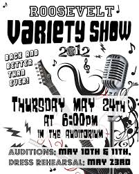 Talent Show Poster Project Oriented