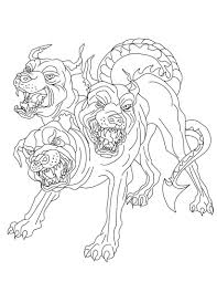 Some of the coloring pages shown here are ares from greek gods and goddesses coloring netart, awesome. Scary Cerberus Coloring Page Free Printable Coloring Pages For Kids