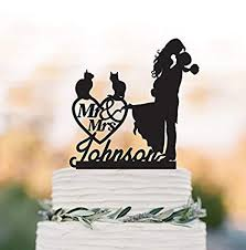 Personalised Wedding Cake Toppers And Cat Wedding Cake Toppers