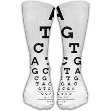 Amazon Com Eye Chart Letter Unisex Cotton Stockings