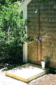 outdoor showers hardware create this secluded shower
