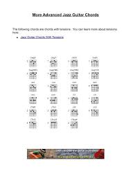 Ultimate Guitar Chord Chart More Advanced Jazz