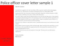 Law Enforcement Resume Cover Letter Examples Police Sergeant Cover