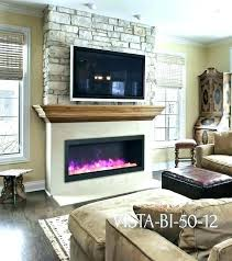 stone fireplace with tv above above fireplace above electric fireplace sierra flame vista electric stone wall