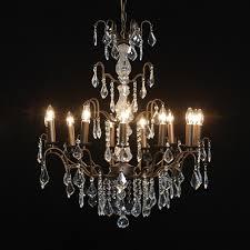 12 branch french antique bronze chandelier