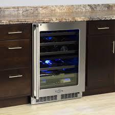 marvel mpwdgrs  inch dual zone wine refrigerator with