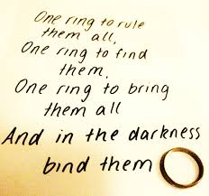 Lord Of The Rings Ring Quote Awesome One Ring To Rule Them All By Smileyhappypeople On DeviantArt