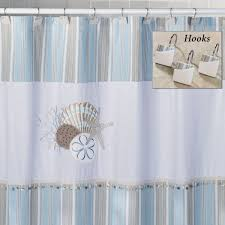 great white polyester extra long shower curtain with white iron bar as modern bathroom decorating treatments ideas