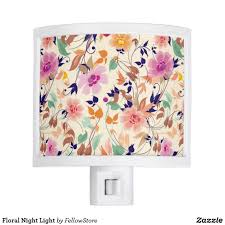 Floral Night Light Zazzle Com In 2019 Home Accents