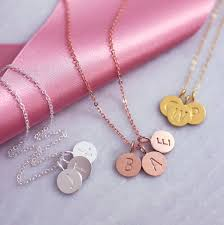 round initial necklace initial disc necklace sterling silver initial necklace personalised gold necklace