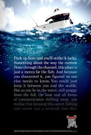 hutchwilco print advert by ddb secret fishing spots ads of  hutchwilco print ad secret fishing spots 1