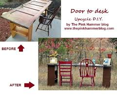 door to desk upcycle diy by kelly whitman the pink hammer blog