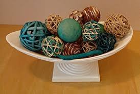 Decorative Bowl Filler Balls Amazon Jodhpuri Inc Aqua Rattan Decorative Spheres Bowl And 19