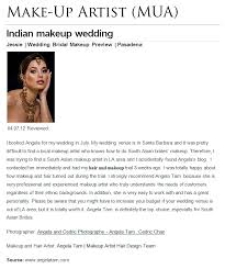 los angeles best indian wedding bride makeup artist south asian indian bride review for angela tam wedding make up artist hair design team los