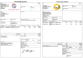 Pro Forma Document Examples Proforma Invoice And Purchase Order Documents Incodocs