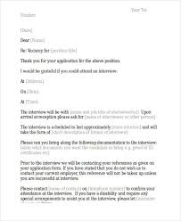 6 Interview Appointment Letter Templates Free Samples Examples