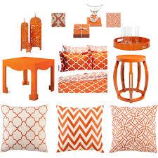 bringing in orange decor