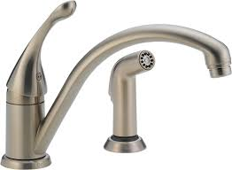 Delta 441-SS-DST Collins Single Handle Kitchen Faucet with Spray ...