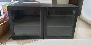 ikea bestÅ cabinet with 2 glass doors