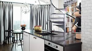 Interior Design — <b>Small Black</b> & <b>White</b> Fashion-Inspired Open ...