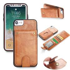 flipcase leather wallet 5 slot card flip case cover casing iphone 8 8s