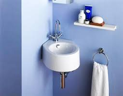 Corner Bathroom Sinks Creating Space Saving Modern Bathroom Design  regarding Bathroom Sink Ideas Small Space