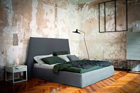 Bedroom Ideas with Decorative Distressed Wall