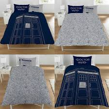 details about doctor who classic tardis duvet pillow cover novelty reversible bedding set