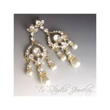 chandelier pearl bridal earrings wedding jewelry earings