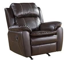 dark brown leather recliner chair. abbyson living vera leather nursery rocker recliner chair dark brown