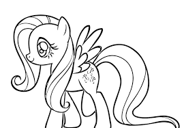 Small Picture Lovely Fluttershy Coloring Pages 38 About Remodel Coloring Pages