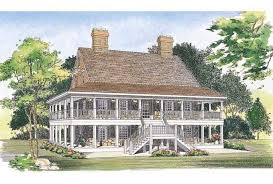 eplans country house plan two levels of wraparound