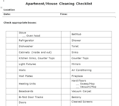 Apartment Cleaning Schedule Apartment Cleaning Checklist