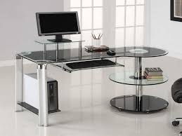 contemporary home office furniture desk glass