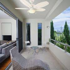 white ceiling fan in room. palm beach iii 48 in. indoor/outdoor matte white ceiling fan in room i