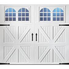 single garage doors with windows. Pella Carriage House 96-in X 84-in Insulated White Single Garage Door With Doors Windows E