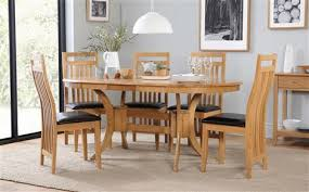 furniture choice. townhouse oval beech extending dining table - with 4 bali chairs (brown seat pad) furniture choice s